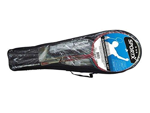 AK Sport SportX Set de badminton avec filet Noir