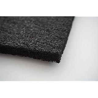 Aktivkohle Filtervlies ca. 1 x 1 m - Dicke ca. 10-12 mm - ca. 1000 x 1000 mm - zuschneidbar - Universal Aktivkohle-Filter Lüftung Abluft - Kohle-Filter Gerüche Geruch Rauch für leichte Emissionen