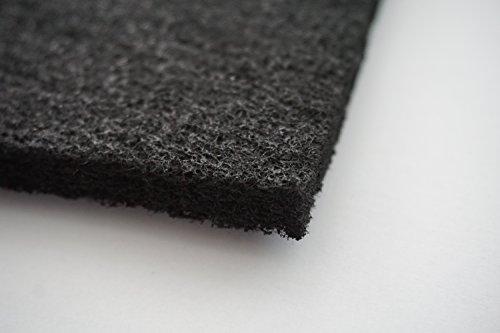 Aktivkohle 0,5x1m 10-12 mm dick Kohlefilter Universal Filtervlies