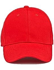 rocks-lane Kleidung EC06New 6Panel schwere gebürstete Baumwolle Baseball Cap Rot