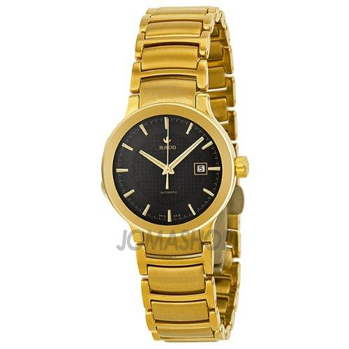 Rado Centrix-Orologio da uomo automatico, colore: giallo, in acciaio inox placcato oro, R30280153-Orologio da donna