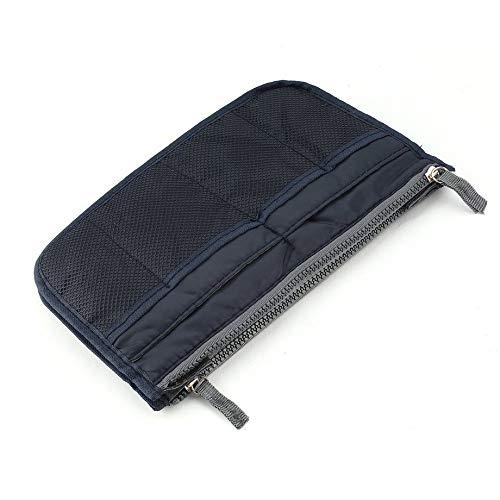 PETUNIA Double Zipper Makeup Bag Portable Travel Beauty Cosmetic Bag Toiletry Bag - Royal Blue