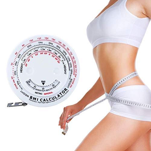 Körpermassband Body Mass Index Versenkbare Band 150 cm Messrechner Diät Gewichtsverlust Bandmaße Werkzeuge