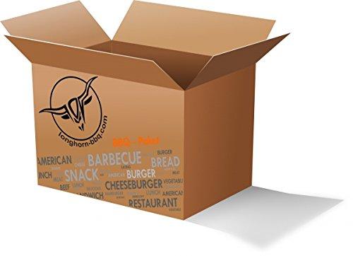 Longhorn-BBQ • Paket L • Premium+ Kokos Grill Brikett • Smoking Chips • Bio Anzünder • Pop Up Timer