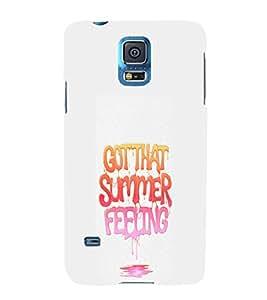 EPICCASE Summer Feeling Mobile Back Case Cover For Samsung Galaxy S5 (Designer Case)