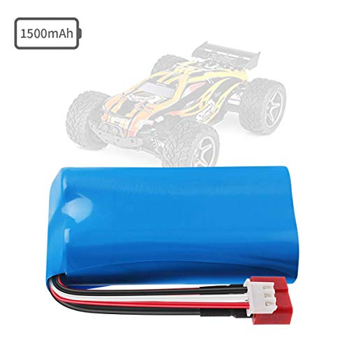 Crazepony-UK 2s Lipo Battery 7.4V 1500mAh 15C Universal for WLtoys 4WD Rc Cars 12403 12401 12402 12404 12428 Spare Part Replacement