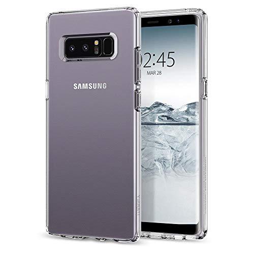 Spigen [Liquid Crystal] Samsung Galaxy Note 8 Hülle (587CS22056) Transparent Silikon Handyhülle Durchsichtig Schutzhülle Case (Crystal Clear)