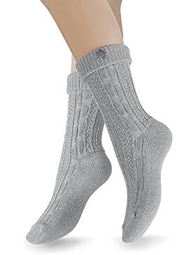 2 Paar Trachten Socken mit Edelw