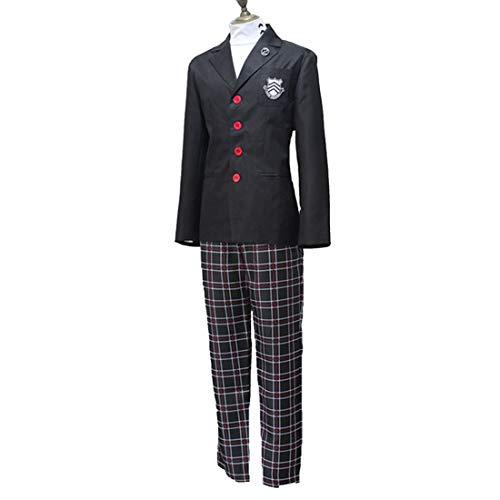 Anime Cosplay Persona 5 Cosplay Kostüm Akira Kurusu/Ren Amamiya Schule Halloween Kleider,Suit-M