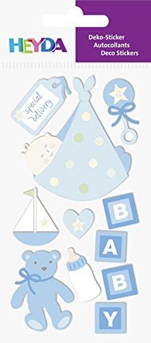 Heyda 203780629 Stick-On's Mix, Motiv: Baby Boy 2 -