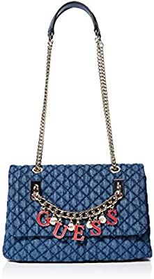 Guess Passion Cnvtbl Xbody Flp, bolso bandolera para Mujer, Azul (Denim), 8x16.5x27 centimeters (W x H x L)
