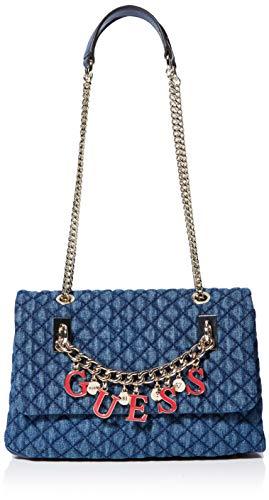 Guess Passion Cnvtbl Xbody Flp, bolso bandolera para Mujer, Azul