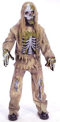 Kleines Zombie Skelett Halloween Kinderkostüm - Small 4-6 ()