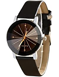 Fashion Now Black Dial 3D Glass Analog Women's Watch - (Prism_Black)