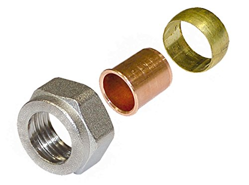 WIROFLEX, Klemmring-Adapter für Edelstahl- oder Kupferrohr, Schraubsystem, Fitting, 1/2 A x 15 mm, Für Mehrschichtverbundrohr