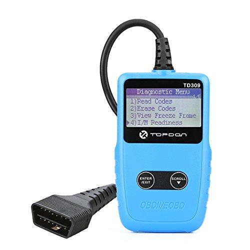 Topdon OBD 2 Reader TD309 OBD Autodiagnosewerkzeug Universelle OBD2-Funktionen Lesen / Löschen von Fehlercodes (DTC) Deaktivieren Sie den Motorlichtemissionstest