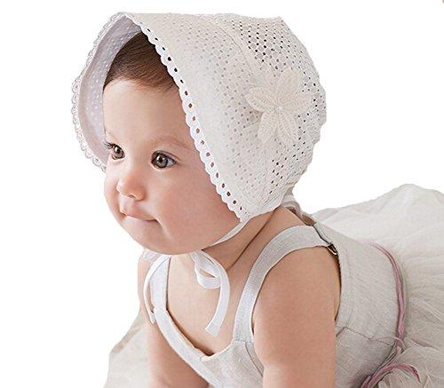 Fletion Sommer Baby Blumenhut Atmungsaktiv Babymützen Kinder Sommerhut Kurz Krempe Sonnenhut