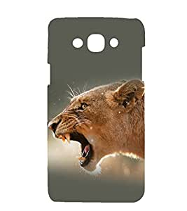 printtech Nature Animal Lioness Back Case Cover for Samsung Galaxy J7 / Samsung Galaxy J7 J700F (2015 EDITION )