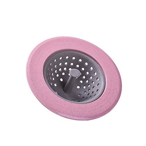Kentop Waschbecken Sieb Abflusssieb Abdeckung Haarfänger Stopper Silikon Anti-Clogging Filter für Badezimmer Dusche Küche (Rosa) Rosa Küche
