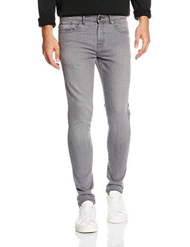 Enzo Herren Skinny Jeans Grau