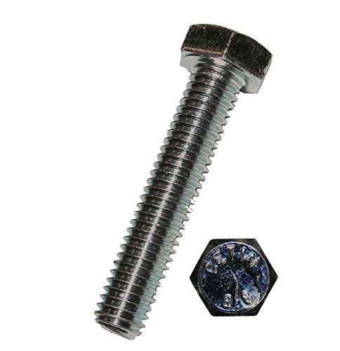 Dresselhaus Sechskantschrauben 8,8 mit Gewinde bis Kopf EN ISO 4017 DIN 933, galvanisch verzinkt, M 8 x 50 mm, 100 Stück