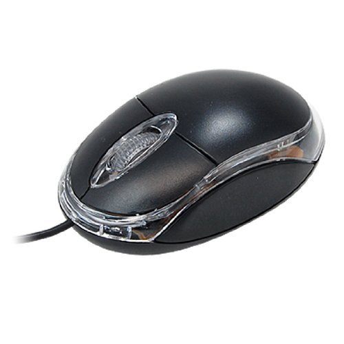 Notebook Computer 3D USB Optical Wheel Mouse Black -
