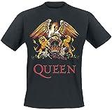 Queen Crest Vintage T-Shirt schwarz 5XL