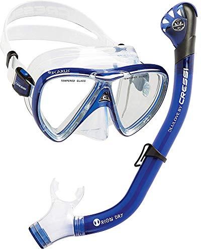 Cressi Ikarus & Orion Dry Kits Máscara Tubo