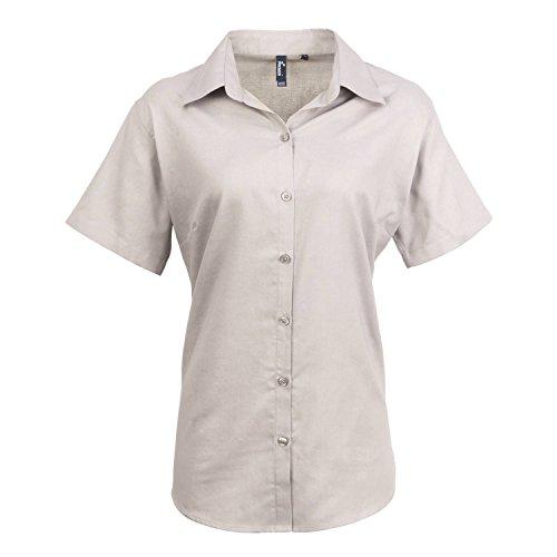 Premier Womens signature Oxford short sleeve shirt White