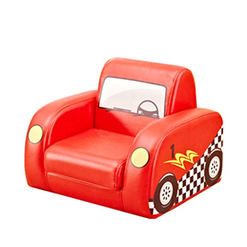 SHUSHI Kinder Sessel für Mädchen Jungen, Cartoon Mini Kinder 2 in 1 Flip Sofa für Kindergarten Sofa Baby Sofa (Farbe : Rot)