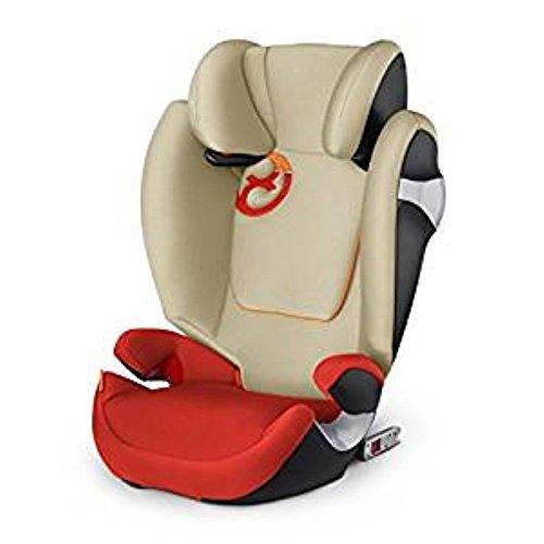 Cybex gold 517000217 solution m-fix seggiolino auto, per bambini dai 3 ai 12 anni, arancione, 15-36 kg