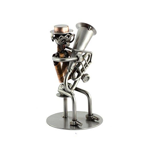 Steelman24 I Schraubenmännchen Tuba I Made in Germany I Handarbeit I Geschenkidee I Stahlfigur I Metallfigur I Metallmännchen