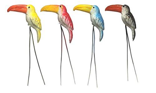20PCS. Terrarium Mini Mix Farbe Vogel dem Spiel Miniatur Puppenhaus Zubehör Fairy Garden -