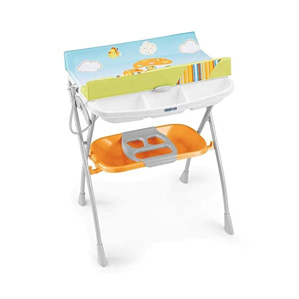 Changing Table Baby Changing Table Foldable Bathing Station with Pad Newborn Massage Care Station Table Infant Changing Unit for Household Travel (Color : B) Changing Table ●Foldable changing table- Easily fold it if you finish all the tasks,With its space saving design, you can store it behind a door, it will make life a little easier for parents. ●Size and Safe and Stable- L78 x W68 x H103cm,Suitable for babies weighing less than 25kg,With seat belt,Changing pad has a restraining strap for added safety and is made of easy to clean, soft ●2-in-1 design- Baby changing table can be used as baby massaging table as well. It is designed at the proper height of parent to prevent mom's back aches and pains from kneeling or bending when changing diapers to babies. 1