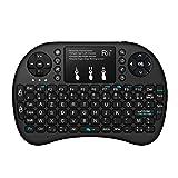 Rii Mini i8+ Wireless (AZERTY) - Mini Clavier Française Rétro-éclairé Ergonomique...