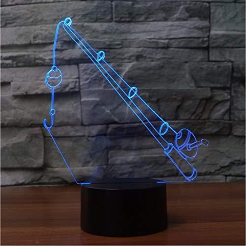 Zfkdsd Angelrute 3D Lampe 7 Farbwechsel Fernbedienung/Touch Schalter Angelausrüstung Nachtlicht Lichter Atmosphäre Lampe Schlafzimmer Licht Für Geschenk