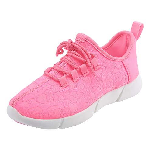 Damen Herren Casual geführte helle Schuhe, Selou Paar schnüren Sich Oben atmungsaktive Turnschuhe der bunten Schuhe USBs Keilabsatz Active Barefoot Business Elegant Outdoor Glitzer Sneaker (Dansko Schuhe Mädchen)