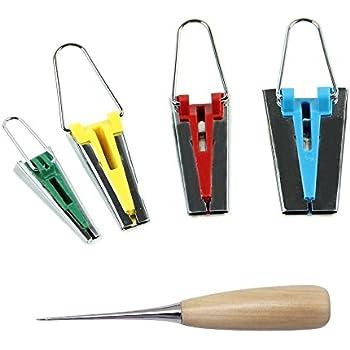 Diealles Shine Schr/ägbandformer Schr/ägband Werkzeug 4er-Set Tape Maker Set in 25mm 18mm 12mm 6mm.