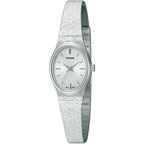 Pulsar Womens' Stainless Steel Mesh Strap Oval Dial PK3031X1