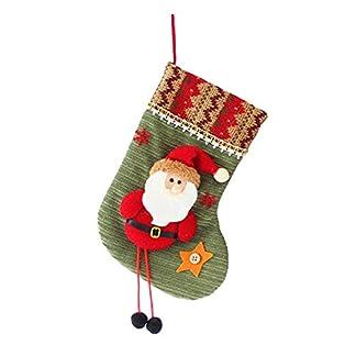 Westeng 1x Calcetines de Navidad Regalode Bolsa de Caramelo Botas Bolsillo para Decoraciones de Navidad Suministros de Fiesta
