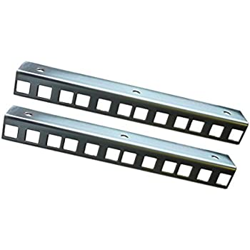 AllMetalParts 4U rack strips Zinc plated 24.2 x 19.2mm sold in pairs