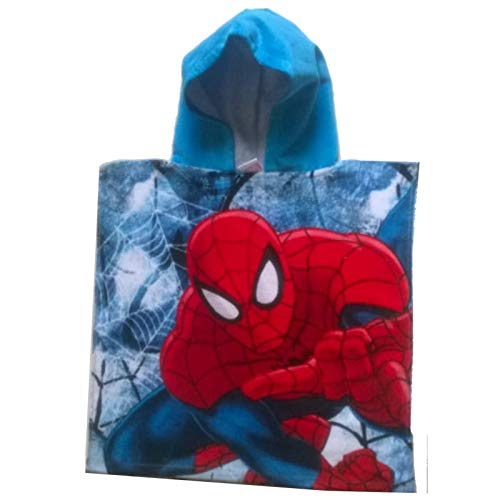 Kinder Marvel Spiderman Poncho Handtuch (Blau) (Flash-kapuzen-handtuch)
