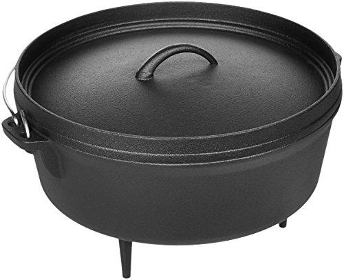AmazonBasics - Padella wok in ghisa pretrattata