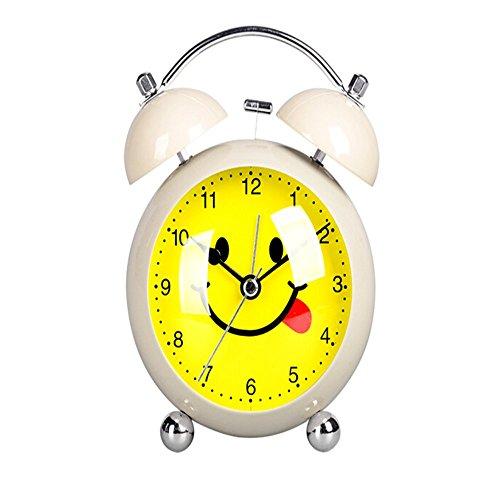 Clocks Alarm Clocks Trustful 3 Or 4 Inch European Style Retro Double Bell Alarm Clock Quartz Movement Bedside Night Light Silence Table Clock Desktop Watch