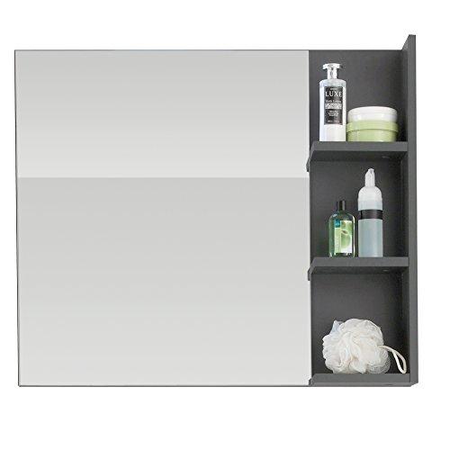 Badspiegel mit grauer Ablage, 79 cm