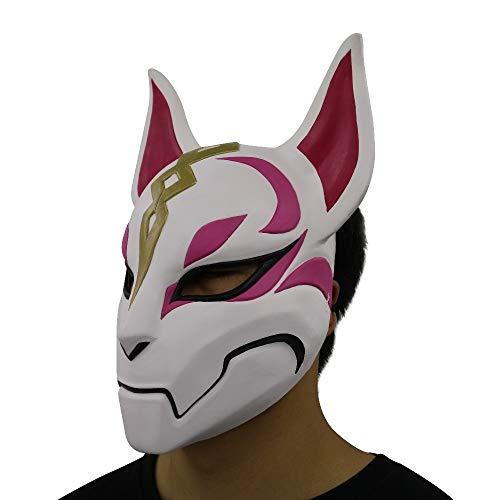VAWAA Drift Fox Maske Latex Maske Halloween Mascara Weibliche Erwachsene, Tier Waschbär Katze Kopf Maske Cospaly Mann Spiel Kostüme - Weibliche Kostüm Männer