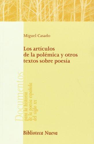 Los artículos de la polémica y otros textos sobre poesía Cover Image
