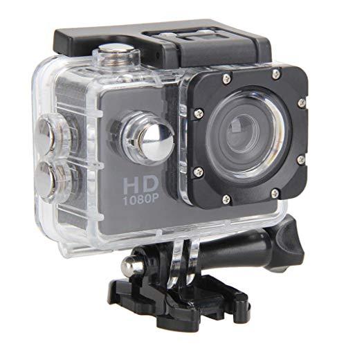 H HILABEE Action Cam 1080p HD Unterwasser Kamera Weitwinkel Helmkamera Wasserdicht mit Zubehör Kit für Outdoor Sport