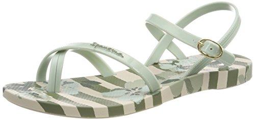 Ipanema Damen Fashion Sand V Fem Zehentrenner, Mehrfarbig (Beige/Green), 41/42 EU (Green Flip Flops Sandalen)