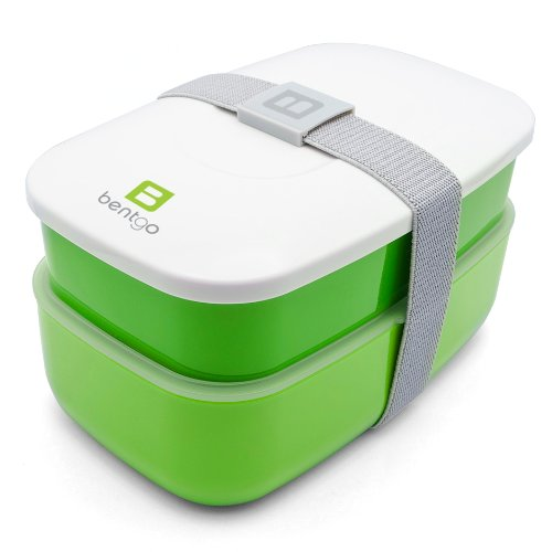 Bentgo - Bento Box inkl. Besteck (Grün)   Lunchbox   Brotdose   Kindergarten   Schule   Büro   Arbeit   Reisen
